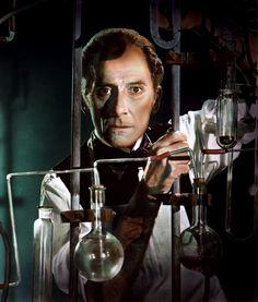 Peter Cushing plays mad scientist Baron Victor Frankenstein in Hammer Horror's Frankenstein Must Be Destroyed (1969)