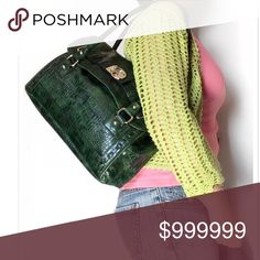 Just in! Brand new Carryall faux leather Brand new without tags. Never used. Perfect condition. Green faux leather croc pattern carry all. Super chic. Very nice quality. Rich silver tone Swan fob. 3 inside pockets. 2 outside zip pockets. Bundle for a fantastic discount. Also open to offers. Gloria Vanderbilt Bags Totes