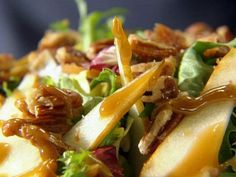 Fall Salad - Endive, Candied Walnuts and pears - Tyler Florence
