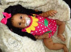 Biracial Reborn Toddler, reborned by Fay O'Neal of Cuddle Me Soft - www.cuddlemesoft.com