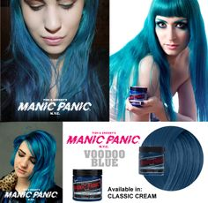 Manic Panic® Voodoo™ Blue (Classic) - my roots and and some of my hair is currently voodoo blue blended into black.