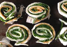 Spinach and Cheese Pinwheels baby led weaning