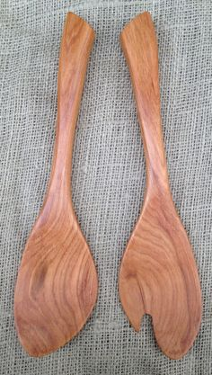 Wood Salad Tongs | the mountaineer blog | American Handmade Wood Kitchen Utensils