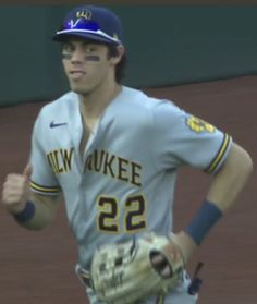 Mlb Players, Baseball Players, Christian Yelich, The Outfield, Milwaukee Brewers, Attractive People, Cute Guys, Bae, Husband
