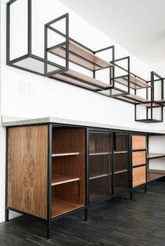 Welded Furniture, Iron Furniture, Steel Furniture, Kitchen Furniture, Home Furniture, Loft Kitchen, Kitchen Room Design, Home Decor Kitchen, Kitchen Interior