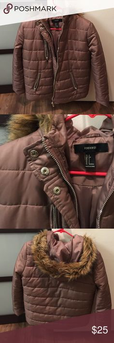 New puffer jacket Gorgeous taupe color. Absolutely new and never used. I bought it for my visit to Denmark but got a different jacket instead. Threw away the receipt and can't return it. So warm and cute though Forever 21 Jackets & Coats Puffers