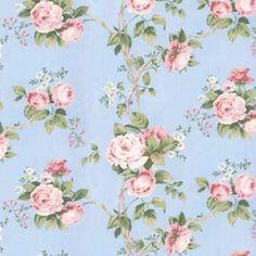 Fabric - Nostalgic Rose - Blue