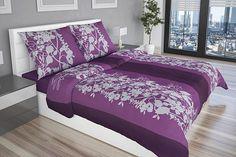Fialové obliečky Amelia so bielošedým ornamentom Comforters, Blanket, Bed, Furniture, Home Decor, Creature Comforts, Quilts, Decoration Home, Stream Bed