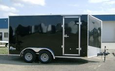 7 x 16 enclosed cargo trailers | 2015 7 ' x 16 ' Black Steel Enclosed Cargo Trailer by Stealth