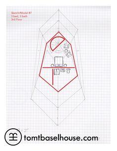 Rodney Allen Trice's Basel House Model 7 - first rough floor plan