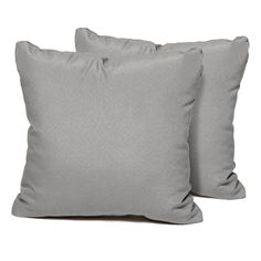 Grey Outdoor Throw Pillows Square Set of Gray, TK Classics(Acrylic, Solid), Outdoor Cushion Sunbrella Pillows, Outdoor Cushions And Pillows, Grey Cushions, Neutral Pillows, Grey Throw Pillows, Throw Pillow Sets, Wicker Furniture, Outdoor Furniture Sets, Industrial Furniture