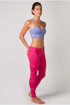 Side cutouts perform the double task of looking great and keeping you ventilated during tough workouts. Subtle heathered pink is the perfect color to light up your workout wardrobe and goes with everything!