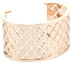 """Rebecca """"Melrose"""" Rose Gold Over Bronze Crossweave Cuff (large) REBECCA,http://www.amazon.com/dp/B005N134M2/ref=cm_sw_r_pi_dp_nFqPrb907D334894"""