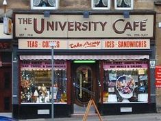University Cafe, Byres Road, Glasgow - I like the doors Scotland Uk, Scotland Travel, Paisley Scotland, Gorbals Glasgow, Glasgow Architecture, Vegas, The Second City, Adventure Is Out There, City Life