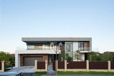 Country House in the Suburbs 02 Alexandra Fedorova Designs an Elegant Contemporary House in Pestovo, Russia Architecture Design, Modern Architecture House, Beautiful Architecture, Residential Architecture, Modern House Design, Design Exterior, Modern Exterior, Dream House Interior, Beautiful Homes