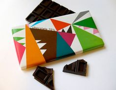 chocolate bar packaging was created for sale during an Olle Baertling exhibition at the Museum of Modern Art in Stockholm