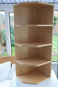 Ikea Birch Kitchen Wall Cabinet End / Corner Shelf Unit