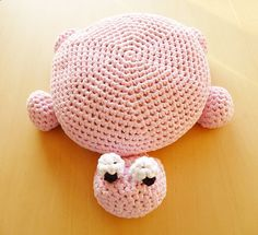 PDF Pattern Crochet Turtle Pillow made out of t-shirt yarn. Neat Idea $5.60 for Pattern