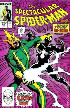 Spectacular Spider-Man (1976 1st Series) 135 Marvel Comics Peter Parker Comic book covers Super Heroes Villians Amazing Astonishing silver bronze modern age Electro