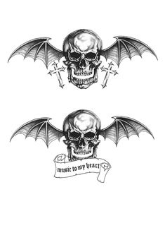 Find the best Avenged Sevenfold Deathbat Wallpaper on GetWallpapers. We have background pictures for you! Avenged Sevenfold Tattoo, Tattoo Ideas, Tattoo Designs, Skull Wallpaper, Band Tattoo, Background Pictures, Tattoo Drawings, Heavy Metal, Tatoos