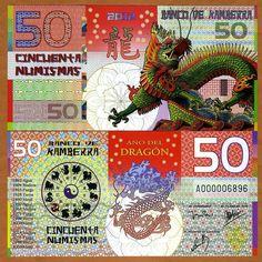 Kamberra, POLYMER, 50 Numismas, China Lunar Year, 2012, UNC   Dragon picclick.com