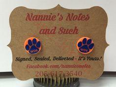 Auburn Tiger Earrings by NanniesNotes on Etsy