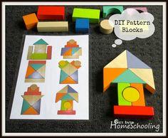 DIY Pattern Blocks - Get Into Homeschooling