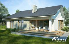 Lukrecja II - Dobre Domy Flak & Abramowicz House Plans, Porch, House Design, Patio, Outdoor Decor, Home Decor, Cottages, Houses, Tiny Cottages