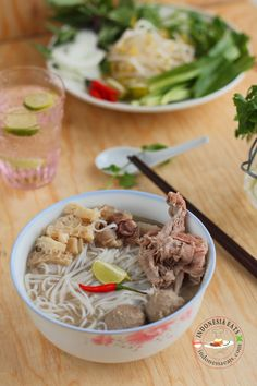 Pho Bo Recipe (Vietnamese Beef Rice Noodle Soup)   Indonesia Eats   Authentic Online Indonesian Food Recipes