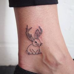 cover scar with jackalope #tattoo #tattoopeople #toronto #타투 #타투피플 #토론토