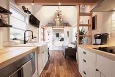 50 Tiny Houses You Can Rent on Airbnb in Tiny House Movement // Tiny Living // Tiny House Kitchen // Atlanta Tiny Home // Tiny House Big Living, Modern Tiny House, Tiny House Design, Minimaliste Tiny House, Tiny Houses For Rent, Sleeping Loft, Atlanta Homes, Bath Design, Beach House