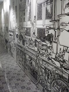 Charlotte Mann's Meticulously Detailed Marker-Drawn Murals