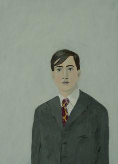 A man with strong eyes by Elizabetg Bauman