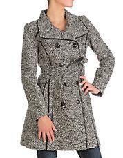 Trench-coat Anda en tweed de laine mélangée