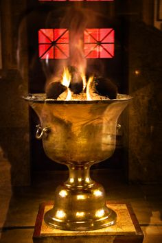 Fire in Zoroastrian Temple which has been kept burning for 1500 years