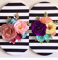 One of my handmade world buddies @handcraftedbrunette asked me to participate in #moveitupmonday and I thought I would share one of my favorite items to make! I love these felt flower canvases and  how clean and fun they are! Would you like share @sugarsnapfeltflorist @somethingfelt and @wildflowerwhimsy ??