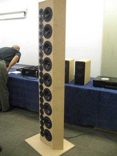 open baffle line array speakers - Google Search