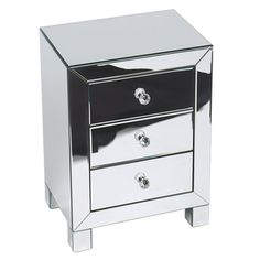 $176.99 Ave Six Reflections 3-drawer Accent Table | Overstock.com