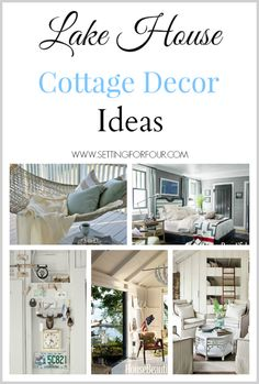 See these beautiful ideas for textiles, patterns and color that define Lake House Cottage Decor!