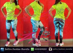 Playera verde neon con licra azul/negro colombiana, encuentra este outfit y mas en ♥ facebook www.facebook.com/Zaf.girl/ ♥ Instagram en @zafiro_fashion_morelia ♥ whats: 4432429263 ♥ Modelo @stephy_viveros  #zafirofashionmorelia #ilovezafiro #GalaSport #VerdeNeon #Azule #Negro #Licra #RopaDeportiva #RopaColombiana #Fitness #model #beautiful #Sport #Adidas #TeniBlanco