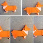 Make an origami corgi
