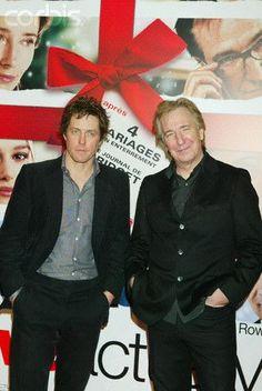 "Alan Rickman Love Actually | Alan Rickman & Hugh Grant at the ""Love Actually"" Premier in Paris"
