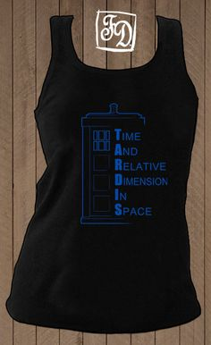 TARDIS  Doctor Who tshirt by FeerieDoll on Etsy, $20.00