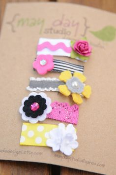 snappy clips  think pink by maydaystudiodesigns on Etsy