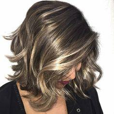 Balayage: Dark brown + Champagne Gold. So beautiful!! #hair #color Highlights