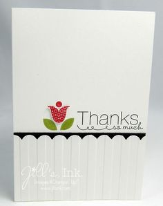 Quick thank you card using Bright Blossoms.