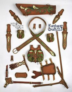 Leather quiver by FantasyLeatherCraft on Etsy
