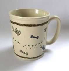 Dog Mug Always Hold Out For Treats Pets Three Dog Bakery Coffee Cup Vintage