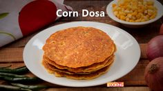 Corn Dosa Ingredients Cooked Corn kernels - 2 Cups Salt to taste Besan flour - 1 cup Water Piece of Ginger Green chili - 1 no. Onion - 1 no. Cumin seeds - 1/2 tsp Few chopped Coriander leaves Ghee/oil Method: 1. Grind cooked corn kernels salt besan flour and water. 2. Mix ginger green chili onion cumin seeds and chopped coriander leaves. Check for seasoning. 3. If the batter thick dilute with water. Batter should be dropping consistency. 4. Heat a tawa pour the corn batter and spread it…
