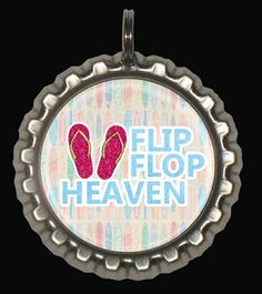 Flip Flops Zipper Pull,  Bottle Cap Keyring, Hairbow Centers, Pendants